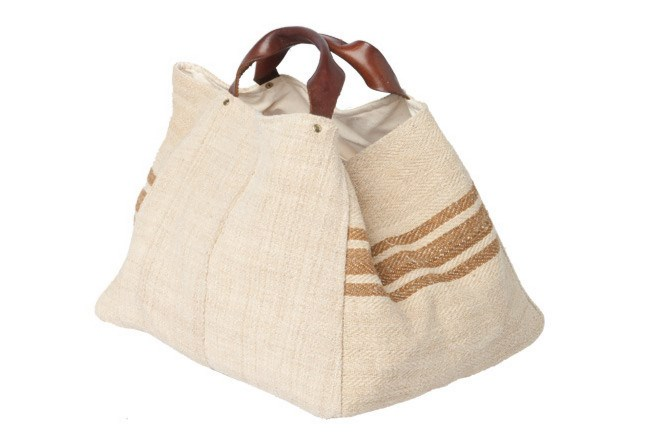 Les Habit Neuf hessian bag from [Ici Et La](http://www.icietla.com.au/mainTemplate.php?GroupID=2&CategoryID=8). | Photo: Craig Wall