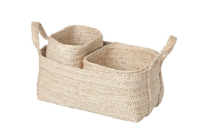 Jute baskets from [Shelf/Life](http://www.shelflife.com.au/). | Photo: Craig Wall