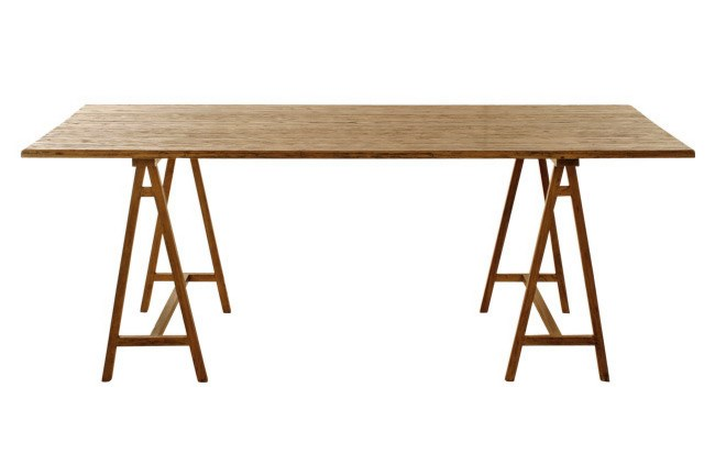 [Perfect Pieces](http://www.perfectpieces.com.au/) trestle dining table. | Photo: Craig Wall