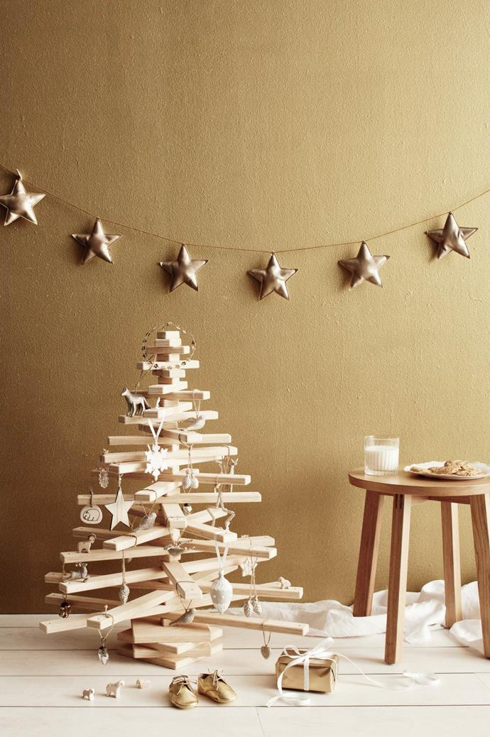 "**Eco-friendly Christmas tree:** Is it jenga, or is it a Christmas tree? This eco-friendly tree is from [One Two Tree](https://onetwotree.com.au/|target=""_blank""
