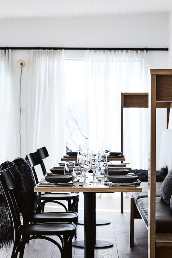 "The restaurant's chic interiors were designed by [Hecker Guthrie](https://www.heckerguthrie.com/|target=""_blank""|rel=""nofollow""). *Photo: Sharyn Cairns*"