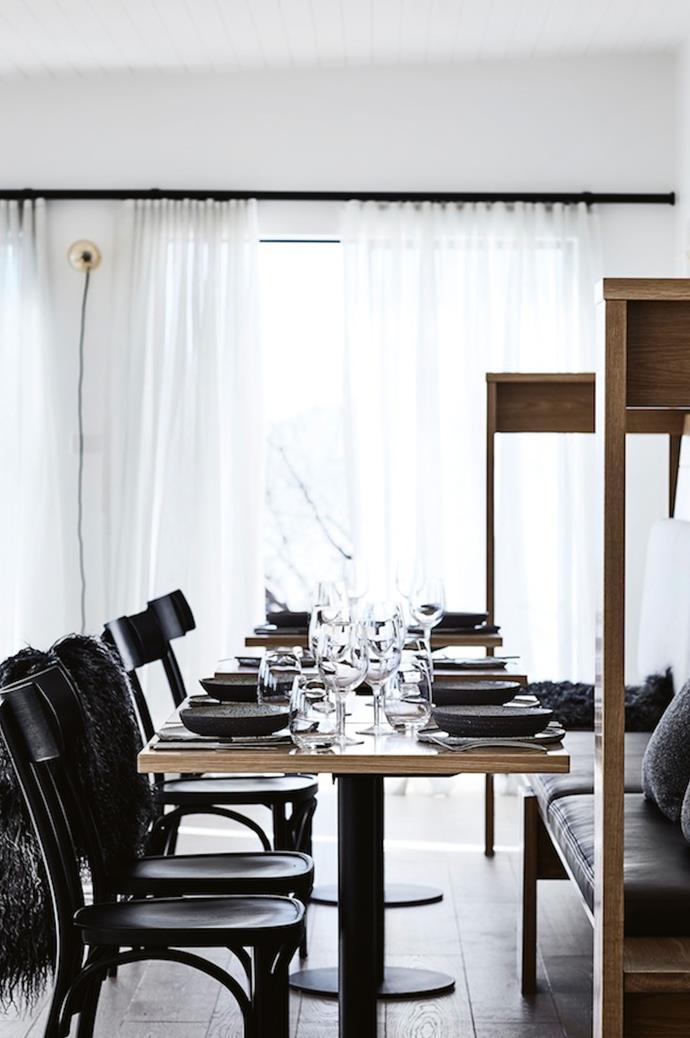 "The restaurant's chic interiors were designed by [Hecker Guthrie](https://www.heckerguthrie.com/ target=""_blank"" rel=""nofollow""). *Photo: Sharyn Cairns*"