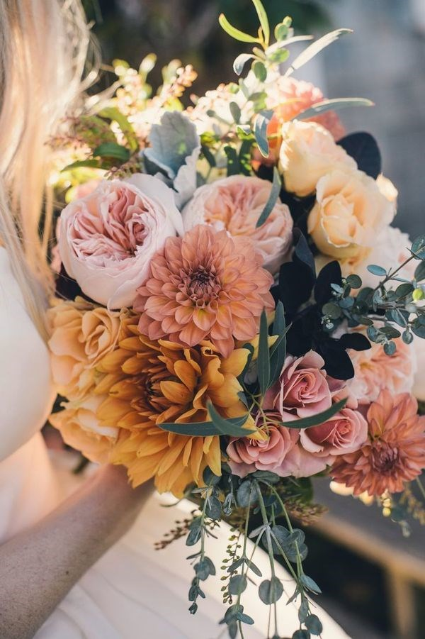 Peonies are among the most expensive flowers in Australia, as they're so hard to grow. To keep the cost of your bouquet down, mix your other flora and foliage.  Image by [Katie Slater](http://www.katieslaterphotography.com/)