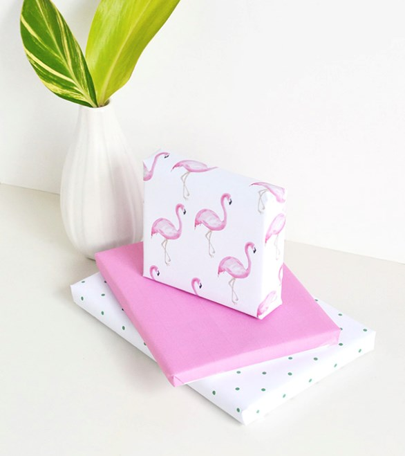 "**Flamboyant flamingos** - Get ready for a summer of sun and sand with this bright pink flamingo [wrapping paper](https://www.homestolove.com.au/christmas-gift-wrapping-ideas-2017-6028|target=""_blank""). You can find it at [Make and Tell](http://makeandtell.com/ 