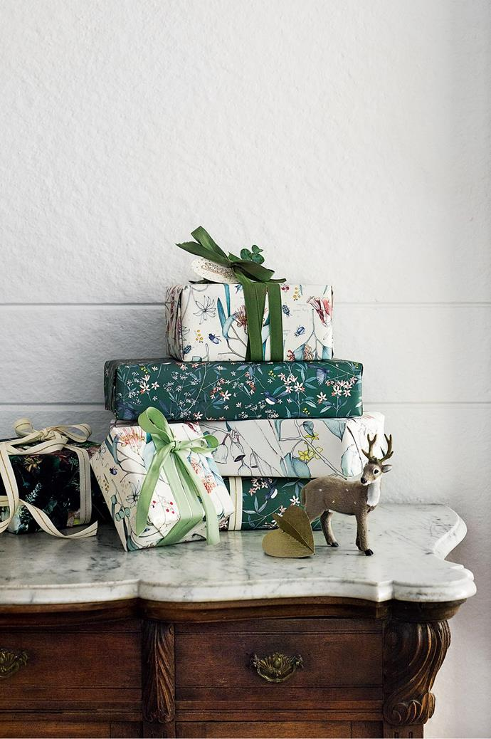 If care has been taken unwrapping gifts, wrapping paper can often be used again. Photo: Brigid Arnott | Styling: Phoebe McEvoy