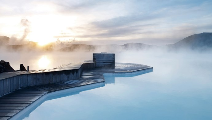 The Blue Lagoon, Iceland. Situated in a lava field, this thermal pool has been named one of the wonders of the world and is hailed for it's powers of rejuvenation.