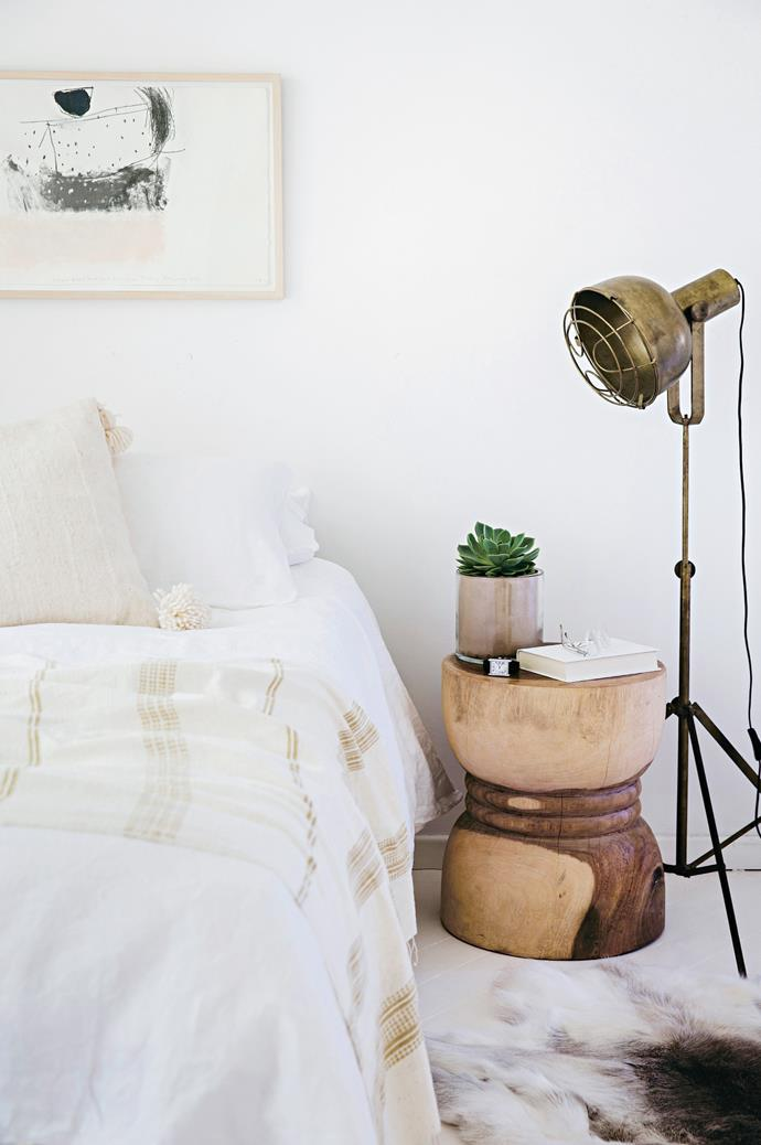 A floor lamp will free up precious space on your bedside table.