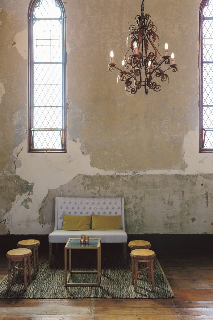 So when Sarah looked on the website of Churchill, a deconsecrated 1858 church and its quaint whitewashed hall in Taradale, 105 kilometres north-west of Melbourne, she knew her search was over: it was the perfect package.  | Photo: Jessica Tremp