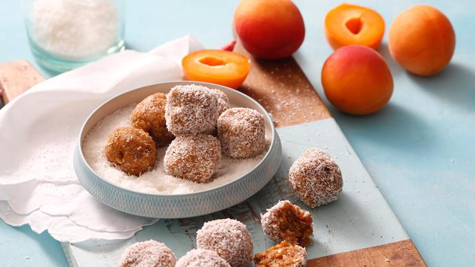 [**Apricot chia bliss balls**](http://www.homelife.com.au/recipes/desserts/apricot-chia-bliss-balls). Super simple to make, these will be a hit with the whole family. We love that they freeze so well (and you don't even need to thaw them — they're great straight out of the freezer).