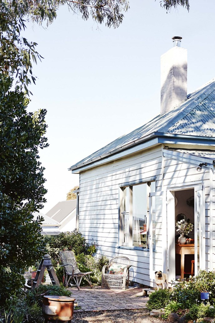 And that's how the jewellery maker came to find this early 20th-century weatherboard cottage in Hobart's west.  | Photo: Lisa Cohen