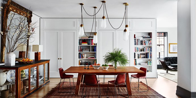 """We wanted space for the kids to grow—and for all of us,"" Watts said. Recruiting the expertise of design firm Ashe + Leandro, the couple fused together a duplex from a former artist's loft and a separate Tribeca apartment. 