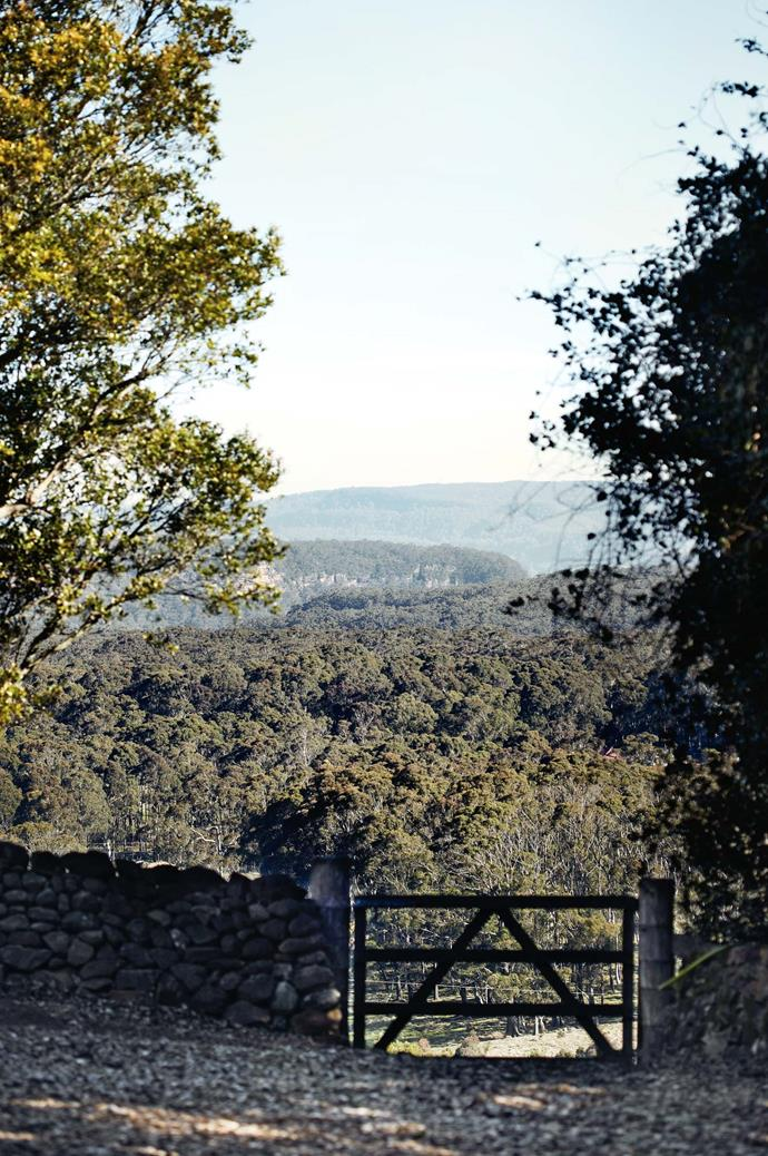 The property is surrounded by trees and uninterrupted bushland views.