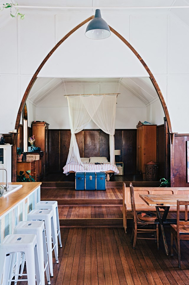 "An old Catholic church just outside of Byron Bay has worn many hats during its lifetime. Its [current incarnation is as a charming home](https://www.homestolove.com.au/old-church-becomes-family-home-12263|target=""_blank"") where the family run [Church Farm General Store](https://www.churchfarmgeneralstore.com/