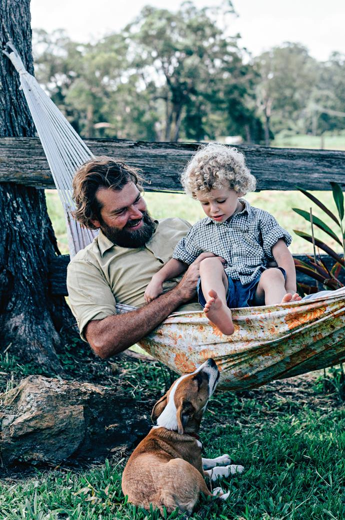 Spending time outdoors is just part and parcel of living in a country town. A hammock is a great resting place for the whole family.