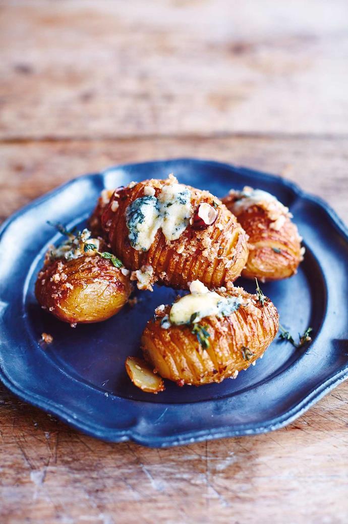 Jamie Oliver's hasselback potatoes.