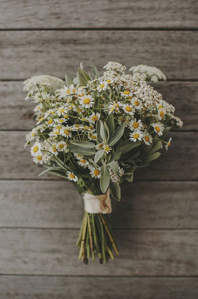 8\. Daisies. Who doesn't love a sweet daisy? These beautiful buds represent true love and new beginnings — perfect if you've just started dating. Flowers by [Leaf and Honey](http://leafandhoney.co.nz/real-weddings/) | Image courtesy of [Danelle Bohane](http://danellebohane.com/).