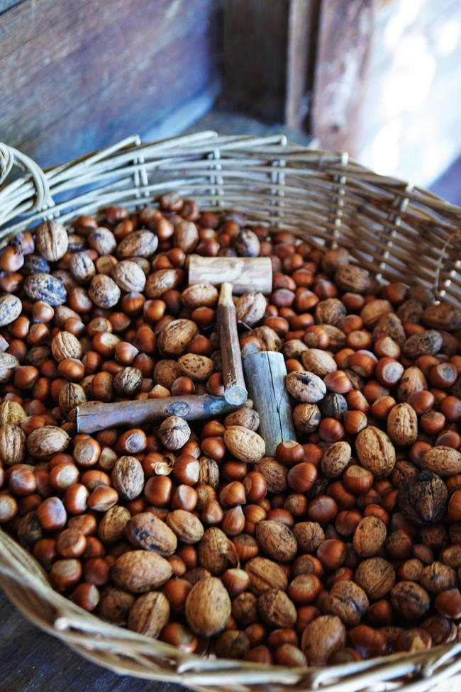 Harvested hazelnuts and walnuts also feature among such ear-pricking apple varieties as Peasgood's Nonsuch and Stayman's Winesap.