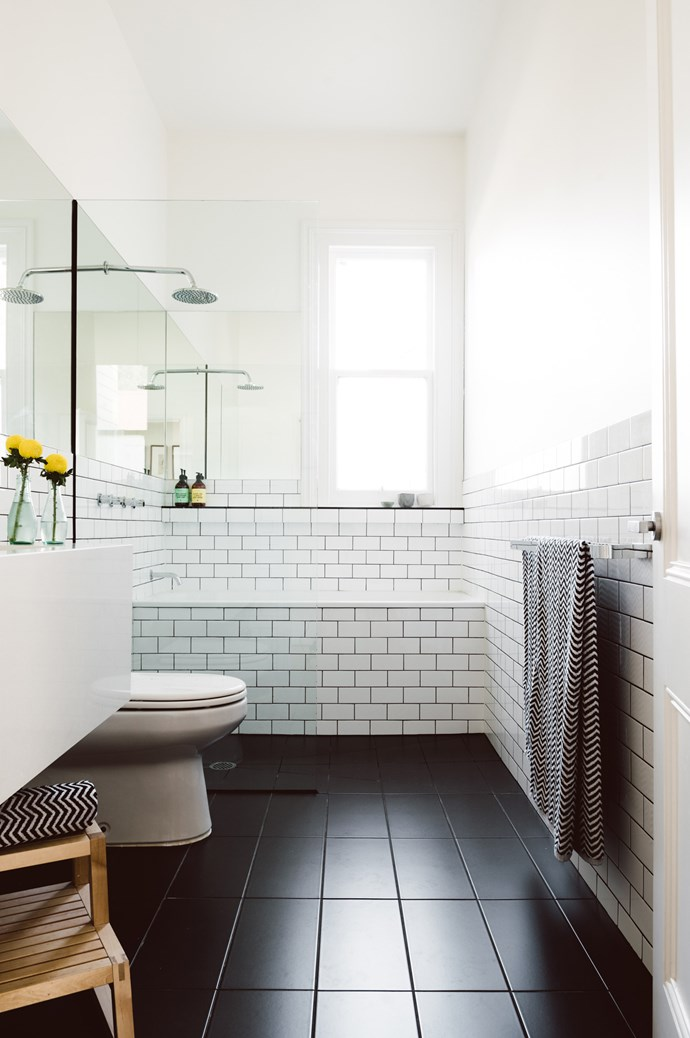 """3. Tiles. When it comes to bathrooms, porcelain tiles are Kate's top pick, being super durable and easy to keep clean.  While the tiles of your childhood may have you scrunching your nose in distaste, Kate says there is a tile to suit any aesthetic. """"You can get porcelain tiles that look identical to timber flooring, and you can also get fab marble lookalike tiles for a fraction of the cost of the real thing.""""  