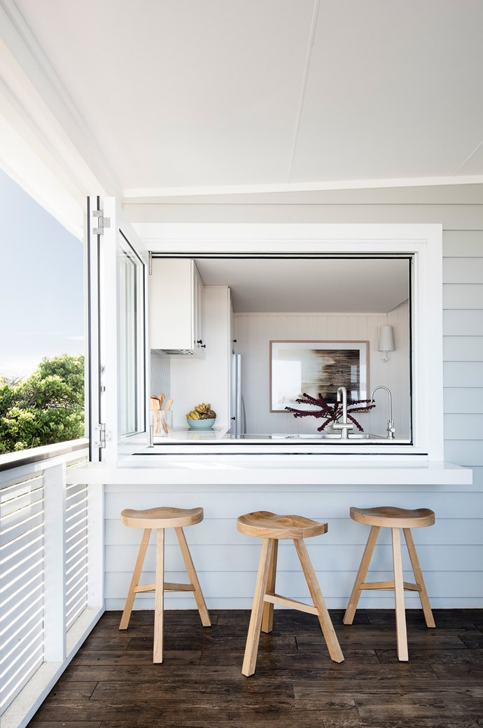 """""""The apartment is located right on the sand dunes,"""" she tells us, """"and it was important that the renovation we did reflected the style and character of the beach. It needed to be a space where this young family could relax, unwind and step away from the world."""" 