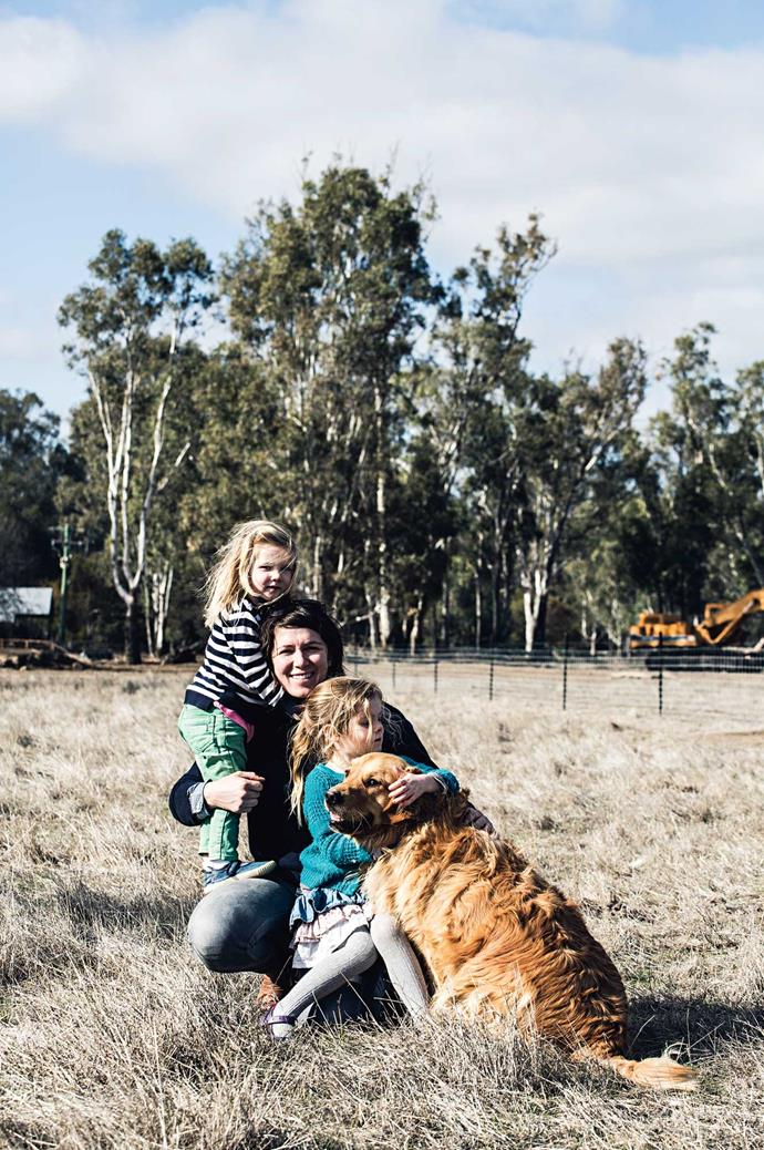 "Starting up a farm has been a rewarding experience for the whole family. ""This is a great way for kids to grow up. They love to get the pigs in,"" says Lauren."