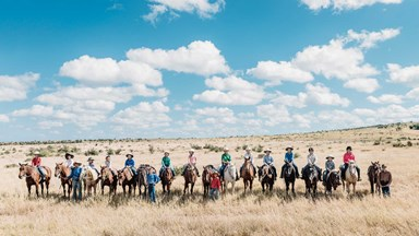 Gone droving: Young riders find adventure through horsemanship