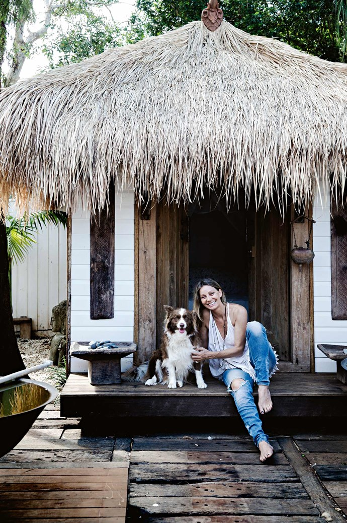 Heidi turned the backyard shed into a Balinese-inspired hut.