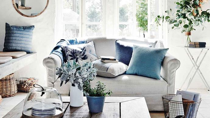 """Interior styling relies on cushions, they're the """"red lipstick of the lounge"""". They are also incredibly versatile and are the easiest ways to get the satisfaction of re-decorating without the hassle. 