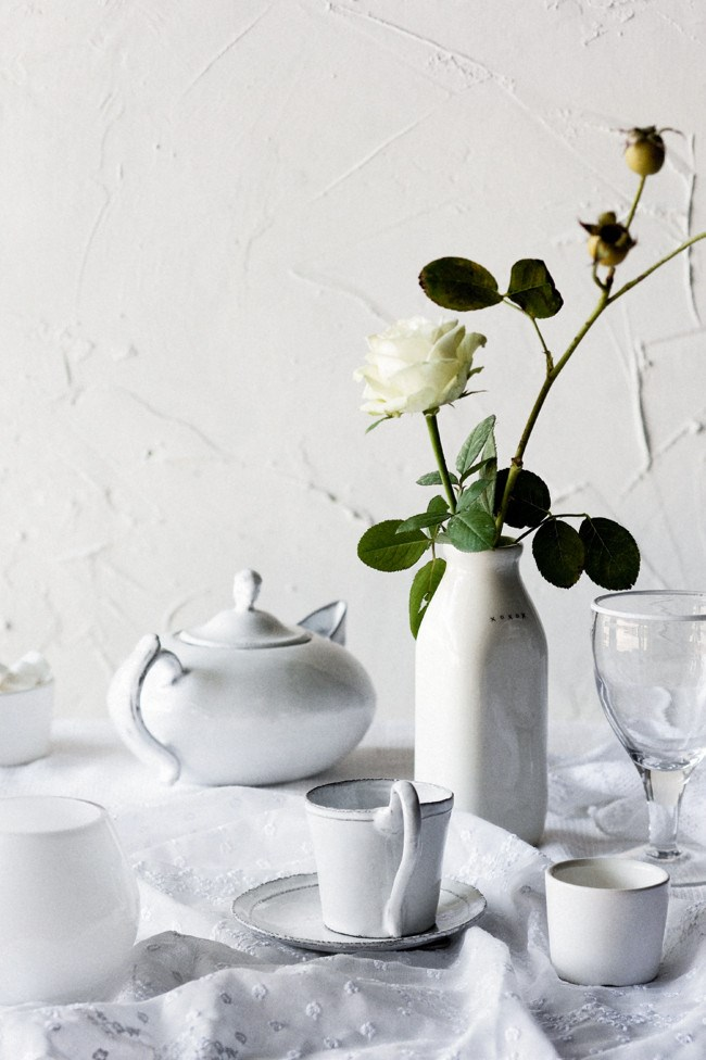 A milk jug makes a simple yet interesting alternative to a vase  | Photo: Sam McAdam-Cooper