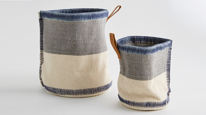Casper Storage Basket, $59.00, from [MJG Store](http://www.mjgstore.com/baskets/135-casper-storage-basket-small-9333793050657.html).