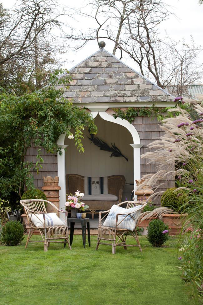 The backyard summerhouse was built by architect Ian Murray.   Photo: Simon Griffiths