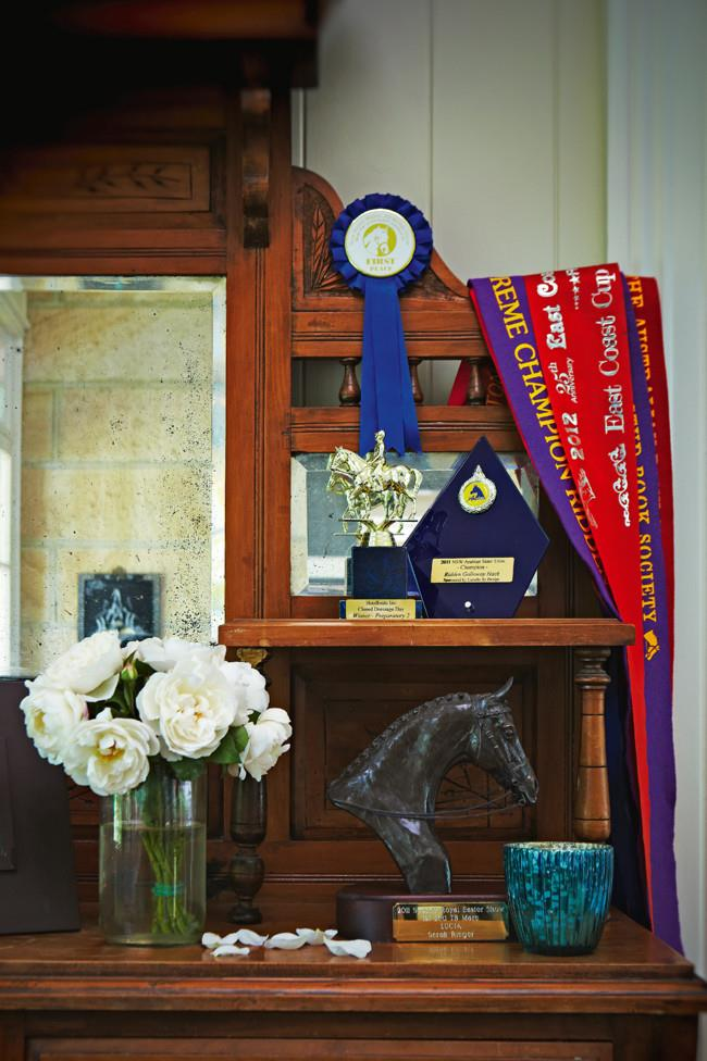 Trophies won by Sarah and her horses in the 2011 season. | Photo: Michael Wee