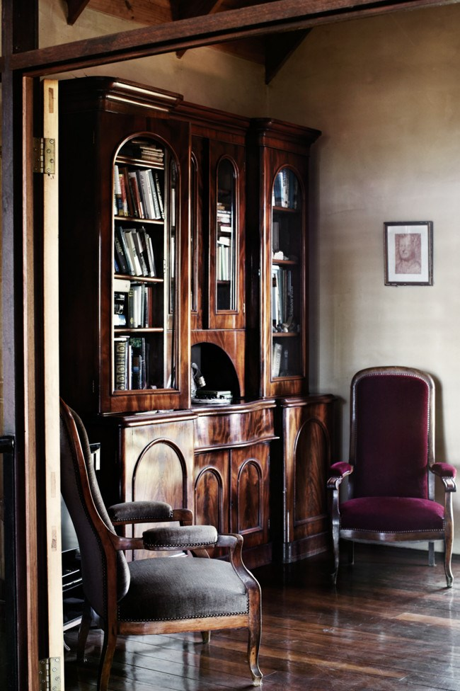 A 19th-century English mahogany cabinet from Charlie's family. | Photo: Sharyn Cairns
