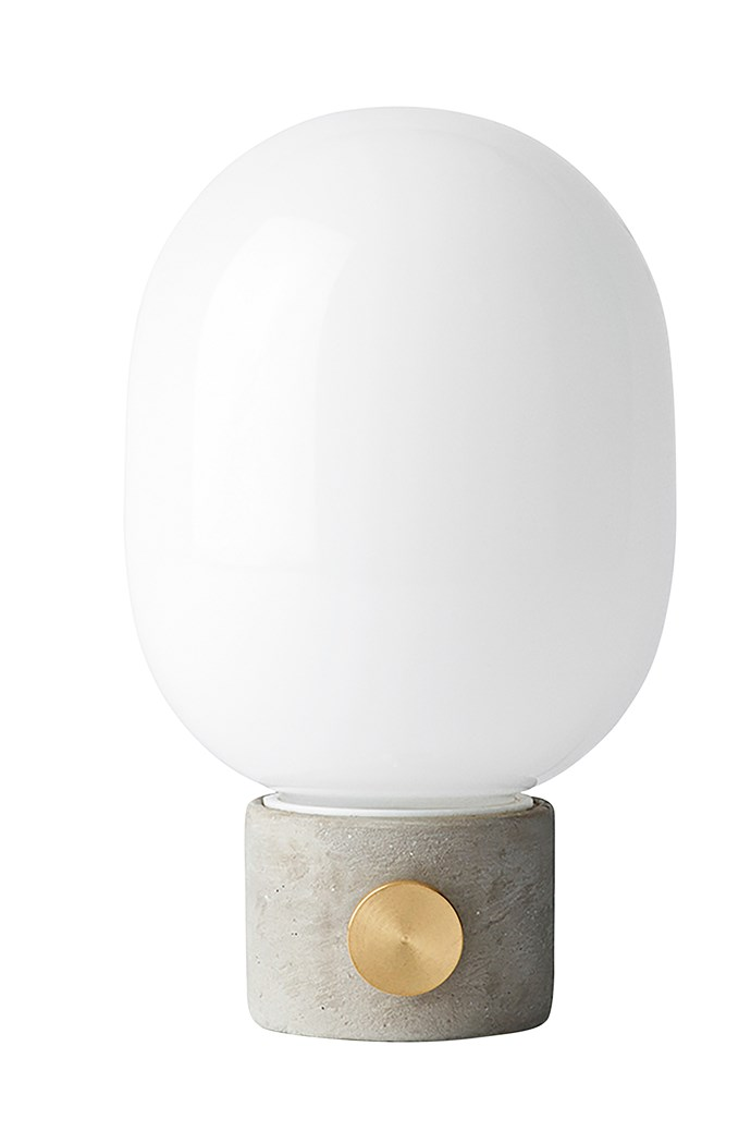 11\. Menu JWDA concrete lamp, $450, from [Hunting for George](https://www.huntingforgeorge.com/).
