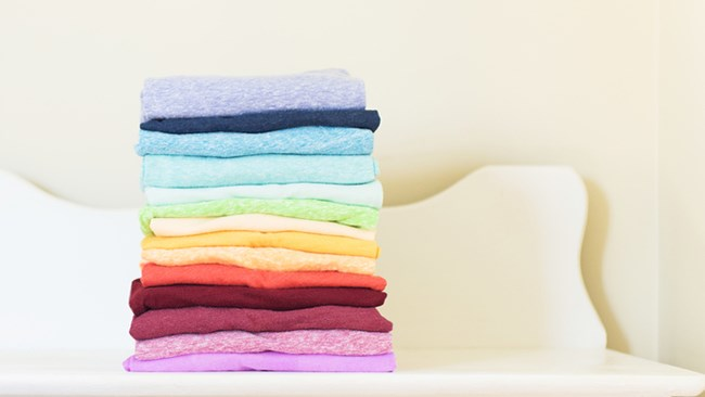 1. Myth: Double washing (or triple-washing) will help you get your clothes cleaner. Myth Buster: Treating clothes properly the first time will make your clothes come out fresher without needing to spend time and electricity on running two or more washes. | Photo: Stocksy