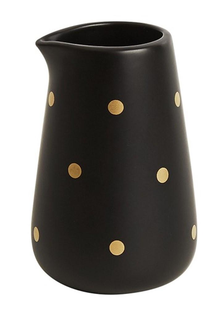 This 'Svenska Hem' milk jug with stylish gold polka-dots would make a pretty addition to a modern kitchen. $9.95, [Kikki-K](https://www.kikki-k.com/)