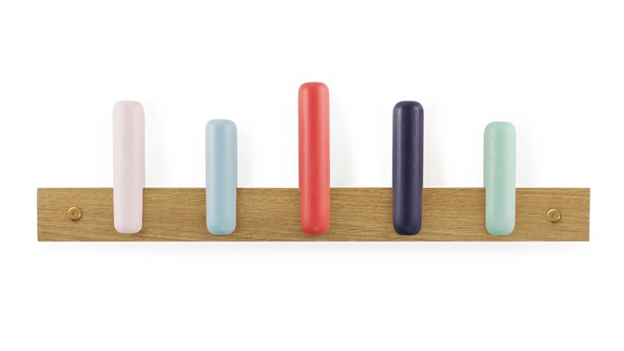 Normann Copenhagen 'Play' coat rack in Candy, $110, [Top3 By Design](https://top3.com.au/)