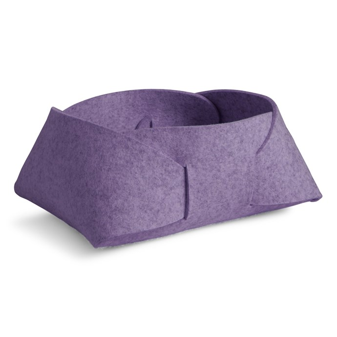 'Double Tuck' storage basket in Lilac, $199, [Blu Dot](http://www.bludot.com.au/)