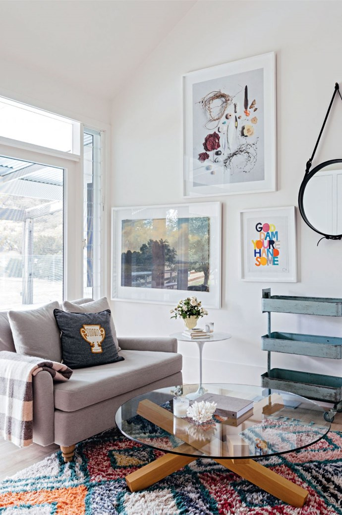 5. High-hanging artwork. Anything that draws the eye upwards will make a space appear bigger, so hanging art or photographs at the the top third of the wall above eyeline will help to elongate a room.