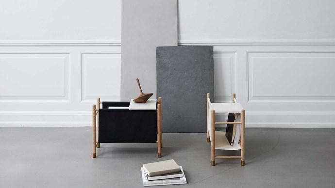 Kristina Dam Studio 'Magazine Keeper' magazine rack, $636, [Norr:Design](http://www.norrdesign.com.au/)