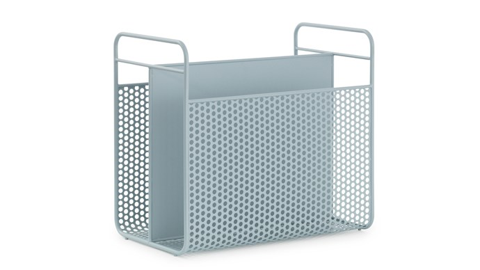 Normann Copenhagen 'Analog' magazine rack in Blue Grey, $200, [Designstuff](http://www.designstuff.com.au/)