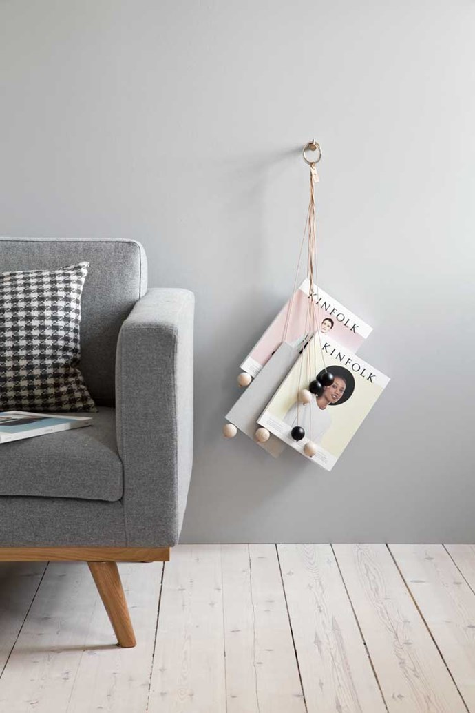 by Wirth 'Magazine Hangout' magazine holder, $99, from [iConnect Products](http://www.iconnectproducts.com.au/)