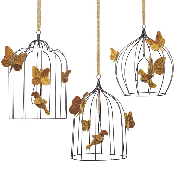 Numero 74 hanging birdcages, from $168 each, inquiries through [Nomades](https://www.nomadeshome.com/ ).