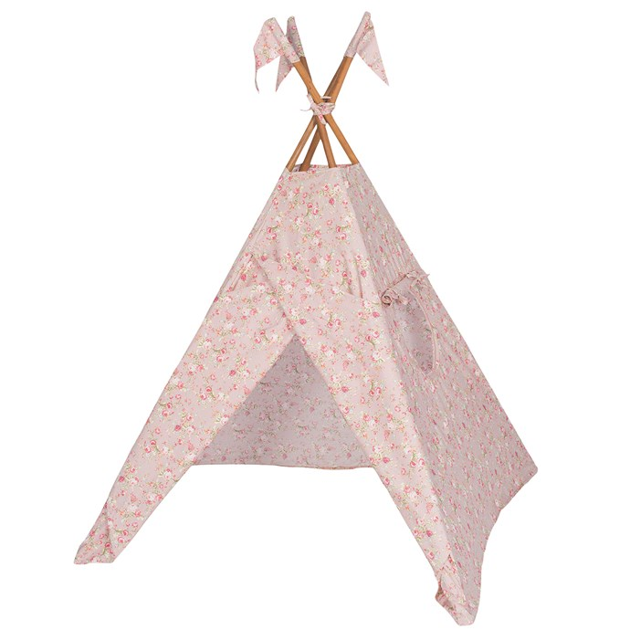 Numero 74 'Tipi' tent Josephine in Dusty Pink Floral, #352, from [Leo and Bella](http://leoandbella.com.au/).