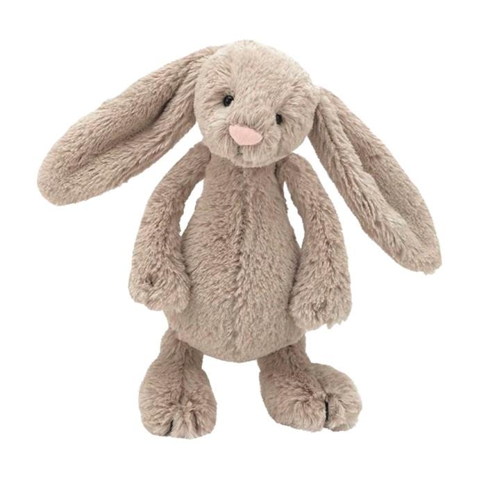 Jellycat 'Bashful' bunnies in Beige, $26.99 each, from [Yellow Octopus](https://www.yellowoctopus.com.au/).
