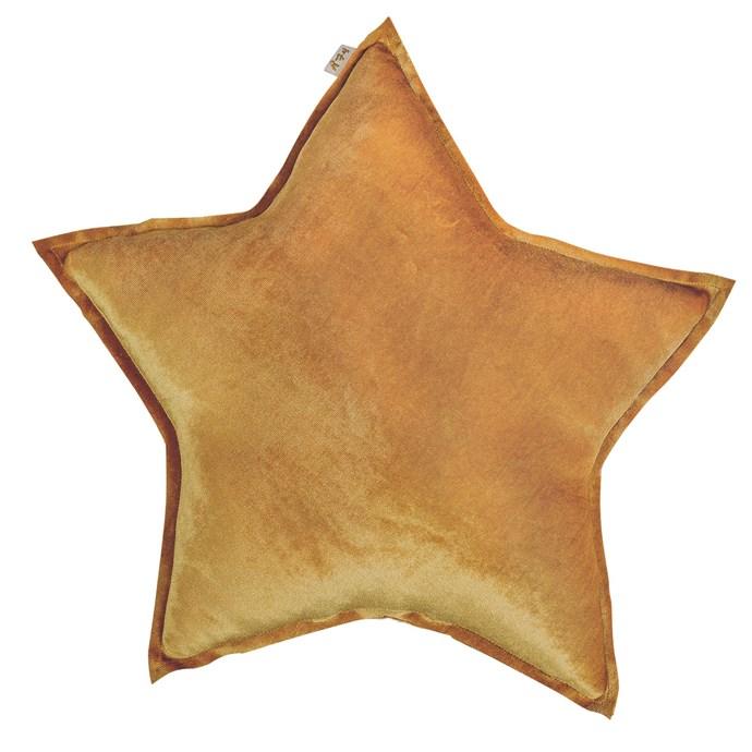 Numero 74 star cushion in Gold, $55, from [Leo and Bella](http://leoandbella.com.au/).