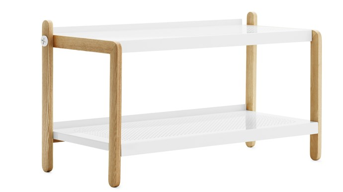 SKO shoe rack in white, $440, [Pappa Sven](https://pappasven.com.au/products/normann-copenhagen-sko-shoe-rack)