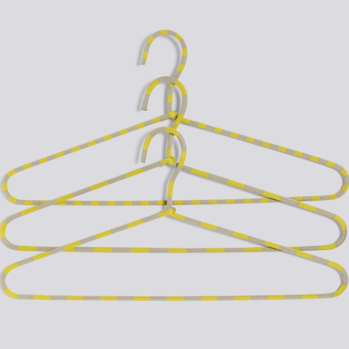 Cord hangers in yellow, $28/set of 3, [HAY](http://hayshop.no/products/68-storage/790-cord-hanger--stripe/)