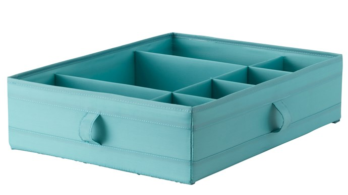 'Skubb' box with compartments, $9.99, [IKEA](http://www.ikea.com/aa/en/catalog/products/90323958/)