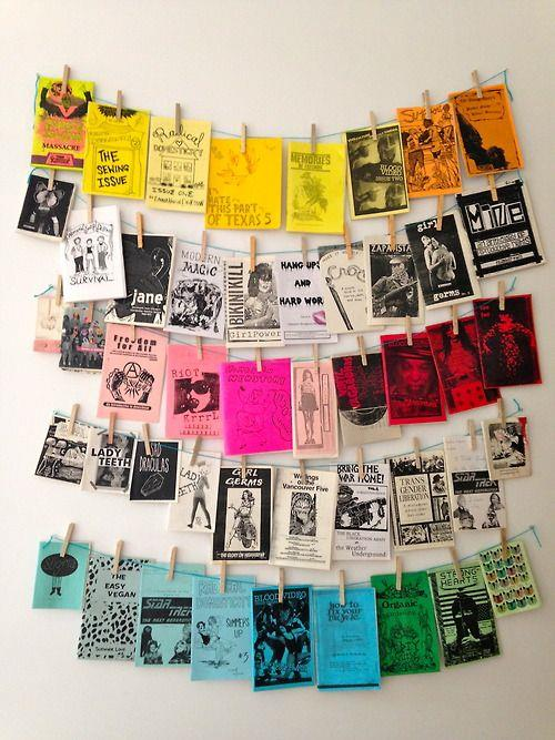 Colour code your papers. Whether it's playbills or boarding passes, maps or pamphlets, colour-coding your travel papers is a great way to keep the holiday vibes going long after the plane has landed. Ideal for home offices and kids bedrooms. Image: [Ana Medeiros](http://www.acasaqueaminhavoqueria.com/)