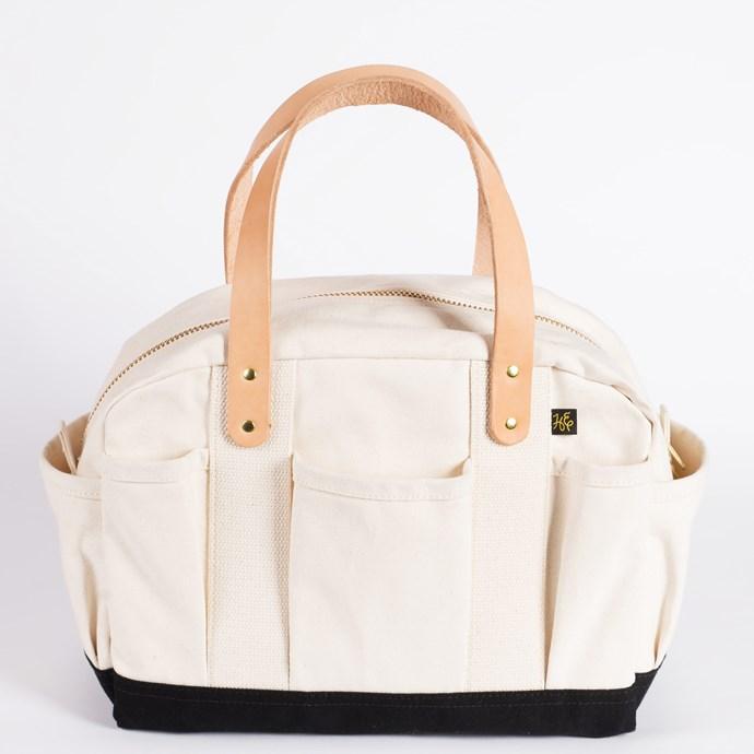 Mechanic's bag in Natural, USD$120, from [Hand-Eye Supply](https://www.handeyesupply.com/)